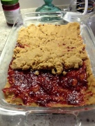 PB&J Bars in the making...